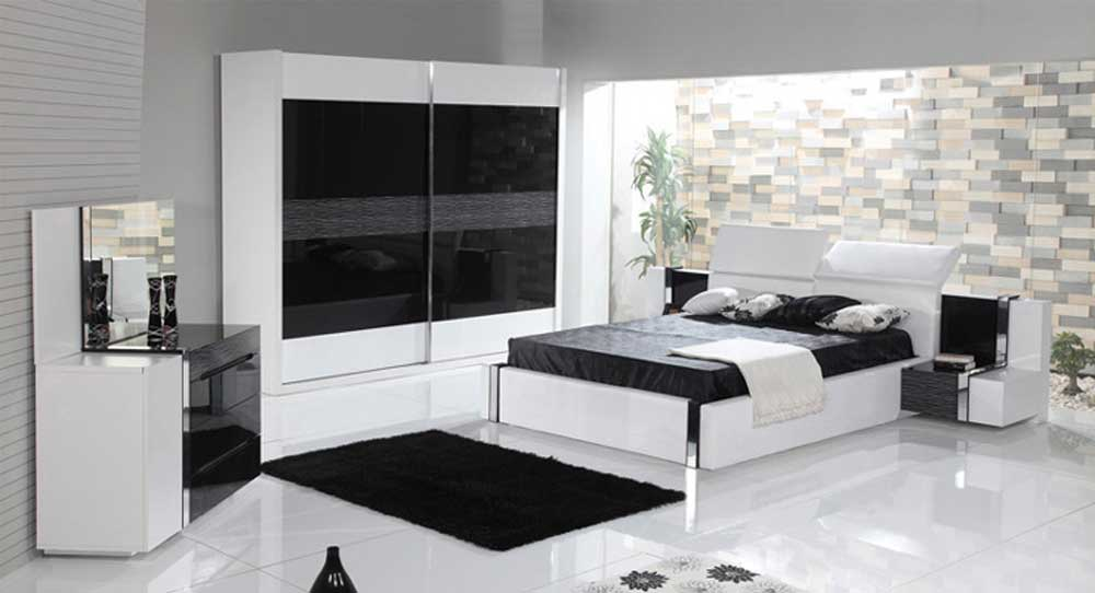 Black White--Blue Gray 2019-Bedroom-Decoration