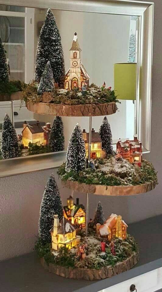 Christmas Village Display.2019 Christmas Village Display Tree 16 Designs Home