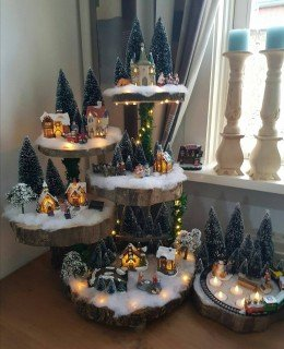 2019 Christmas Village Display Tree 3