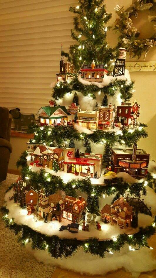 2019 Christmas Village Display Tree 4