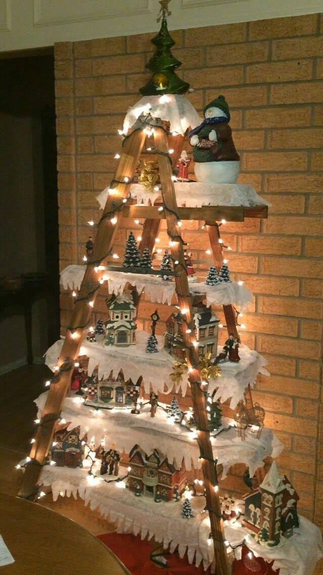 2019 Christmas Village Display Tree 8