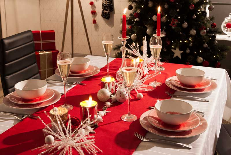 Christmas Dining Table Ornaments Table Decoration 2019