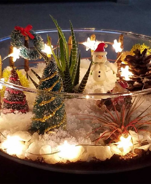 Christmas Terrarium Ornament 2019
