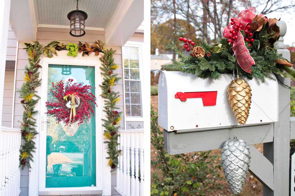 Christmas Wreath Door Decorations at the Entrance 2019