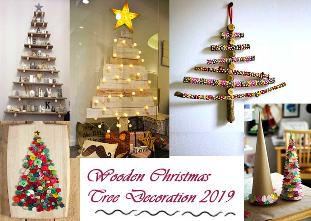 Wooden Christmas Tree Decoration 2019