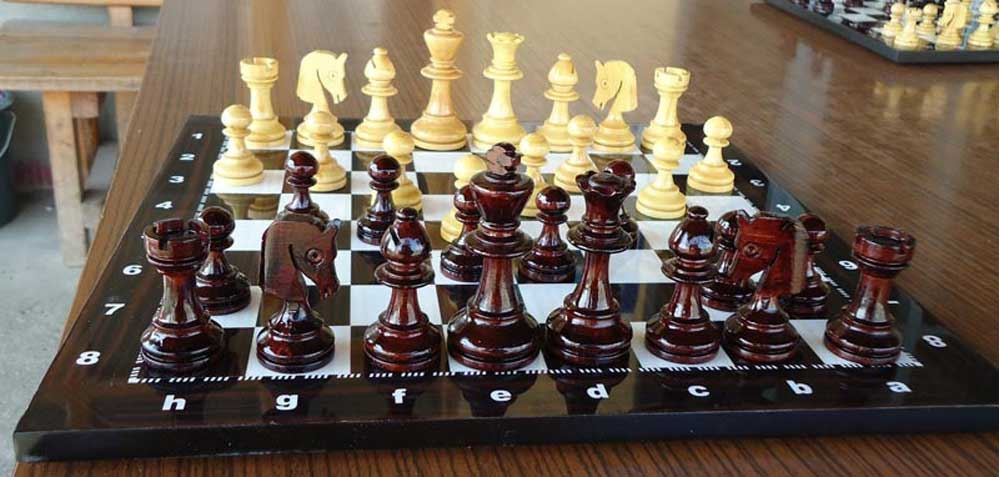 chess set in home decoration