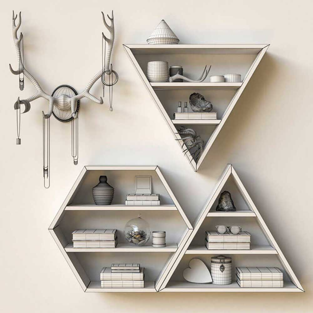 geometric decorative shelves decoration 2019