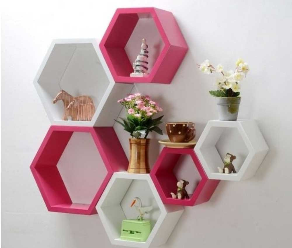 honeycomb wall shelf decoration 2019