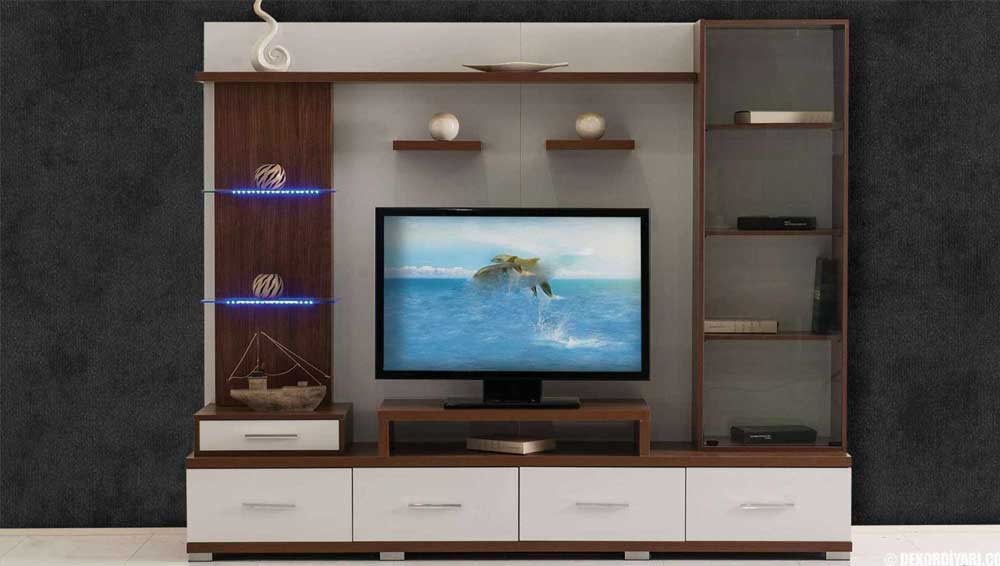 Modern TV Unit Decoration Ideas 2019 7