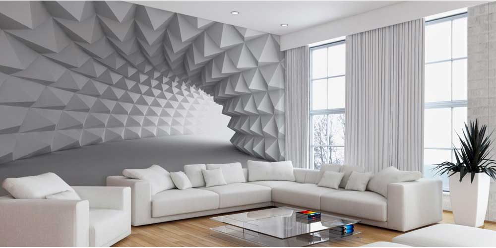 living room wallpaper decoration 2019