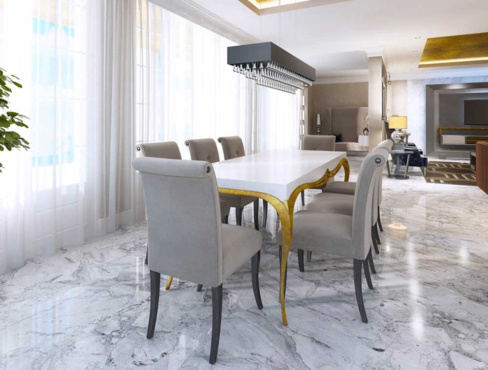 marble decoration at home