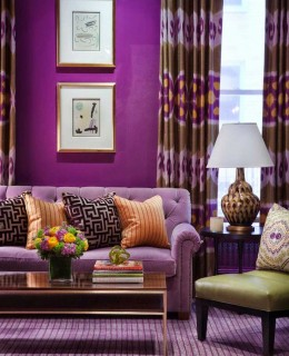 Lilac - Violet Sofa Ideas  For Living Room Decoration 2019 17