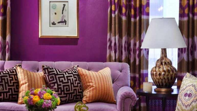Lilac – Violet Sofa Ideas  For Living Room Decoration