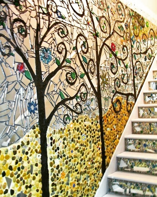 Mosaic walls in home decoration (6)