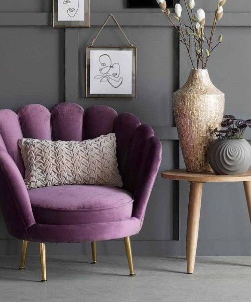 Decoration Samples with Lilac Armchairs 2020