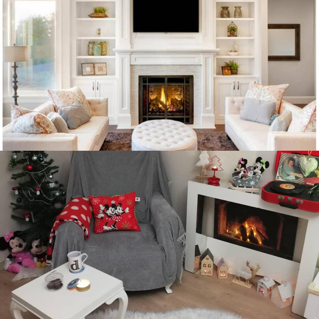 Fireplace Decorations for Christmas Home Decor (2)