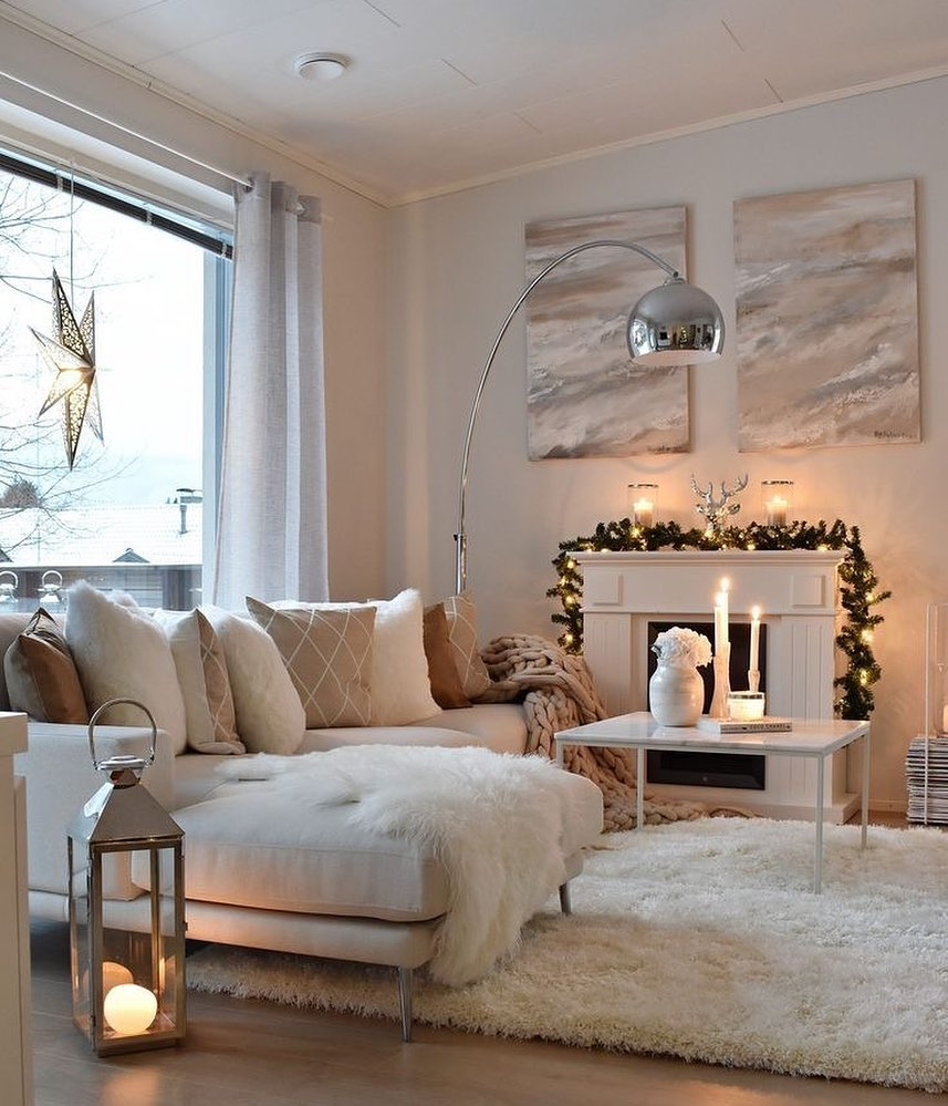 Fireplace Decorations for Christmas Home Decor (4)