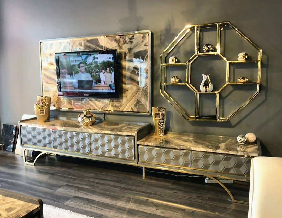 Marble TV Unit Models for Home Decor Trends 2020 (11)