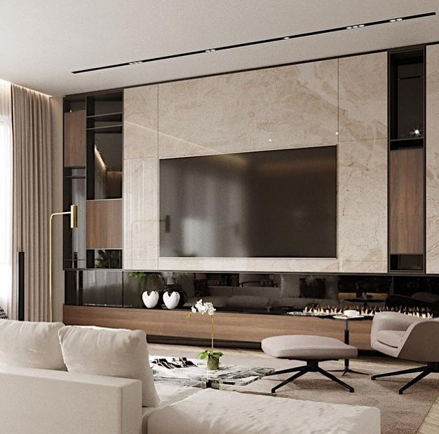 Marble TV Unit Models for Home Decor Trends 2020 (12)