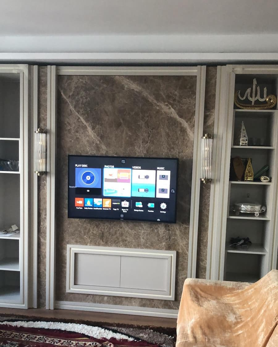 Marble TV Unit Models for Home Decor Trends 2020 (14)