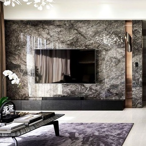 Marble TV Unit Models for Home Decor Trends 2020 (16)