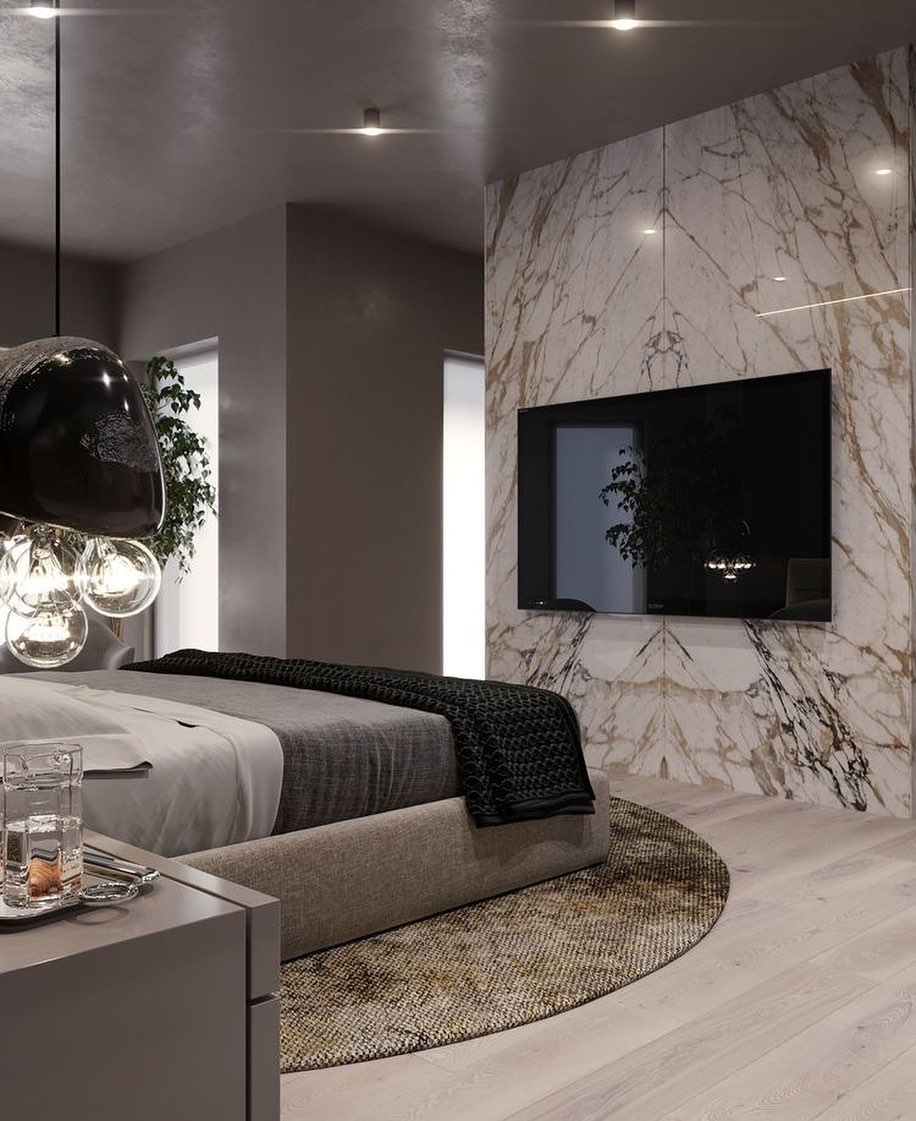 Marble TV Unit Models for Home Decor Trends 2020 (2)