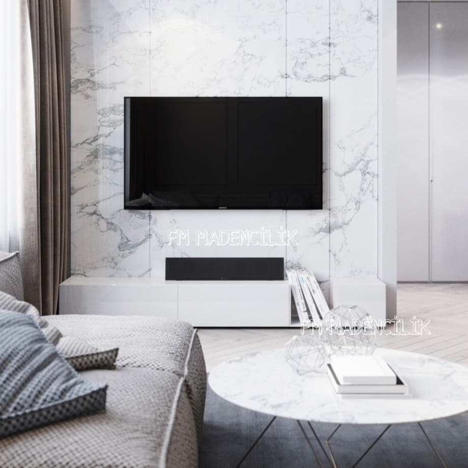 Marble TV Unit Models for Home Decor Trends 2020 (3)