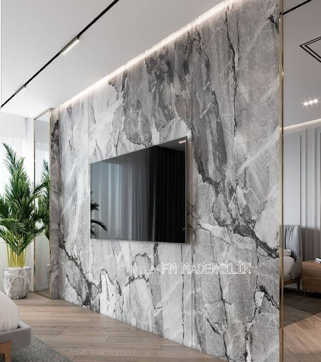 Marble TV Unit Models for Home Decor Trends 2020 (4)