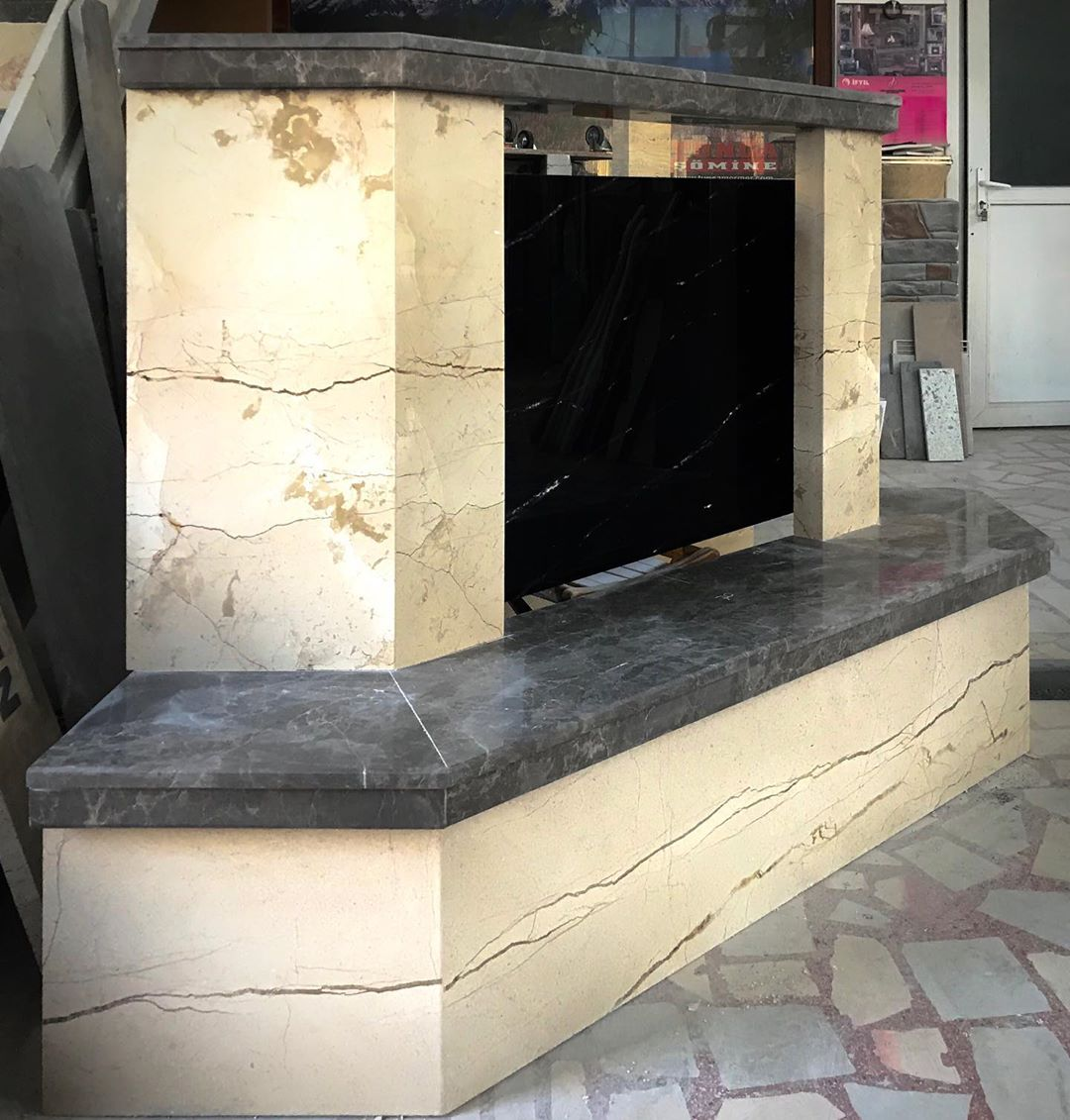 Marble TV Unit Models for Home Decor Trends 2020 (6)