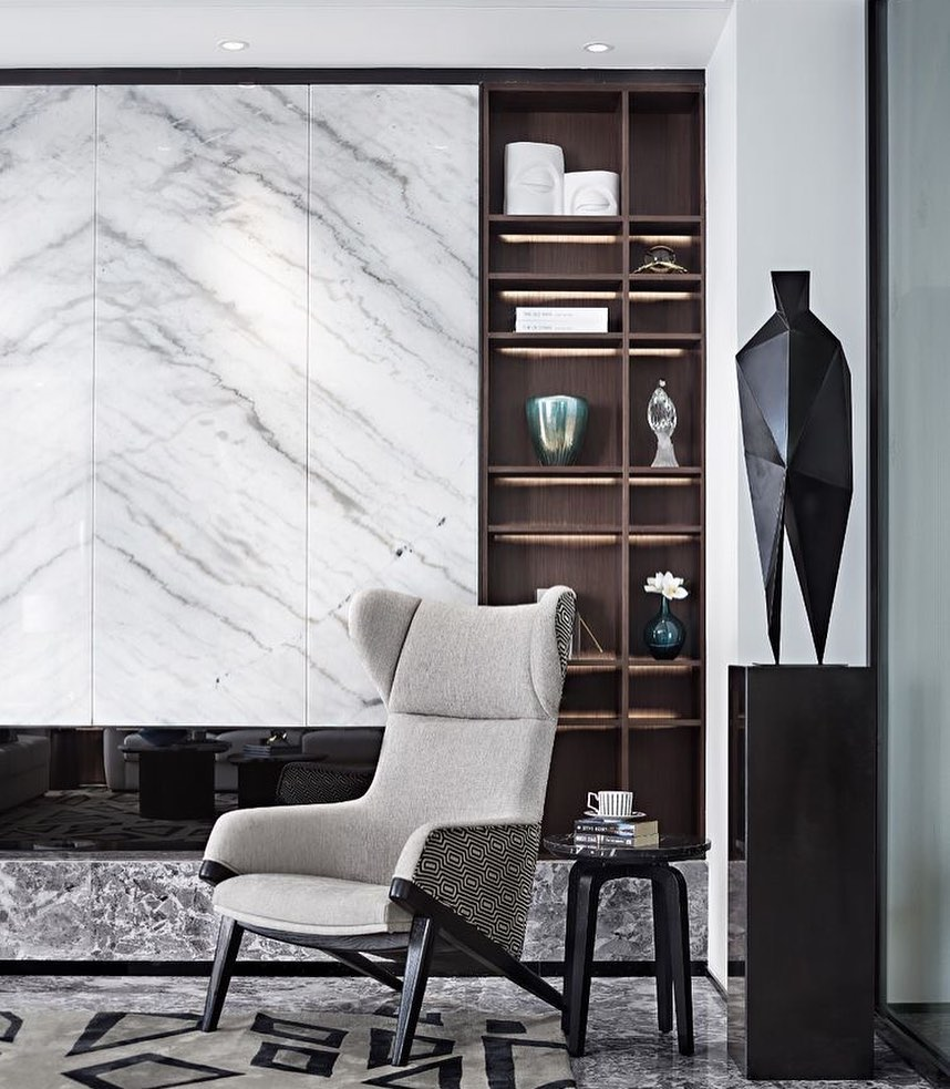 Marble TV Unit Models for Home Decor Trends 2020 (8)