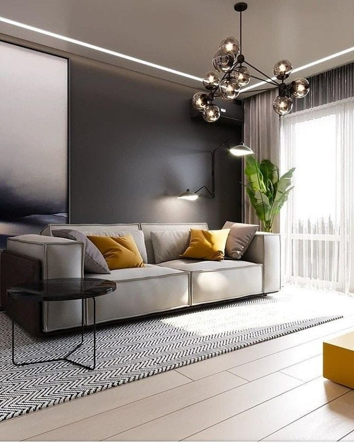 2020 Modern Living Room Decoration (28)