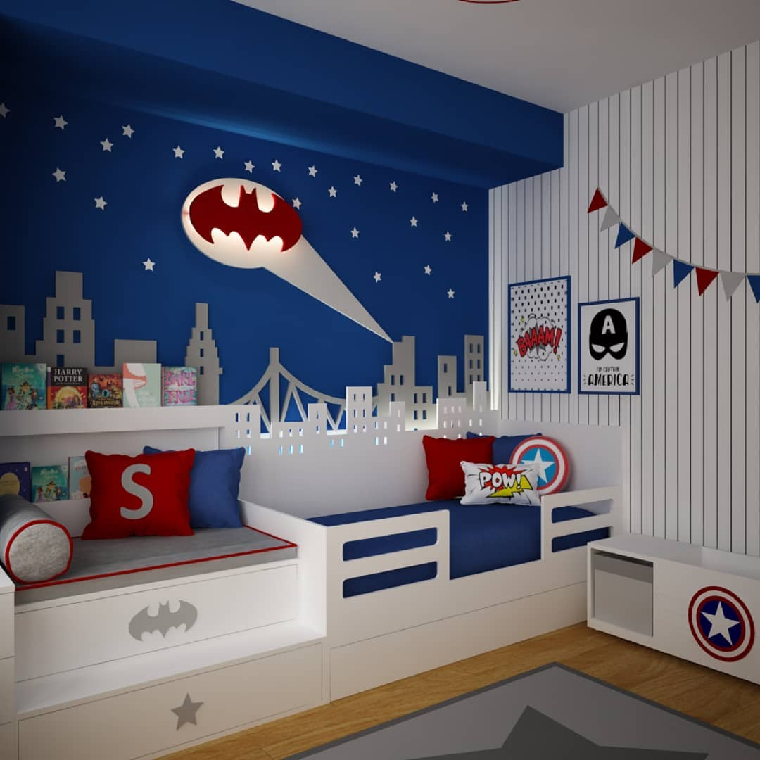 Large and spacious children's room decoration (12)