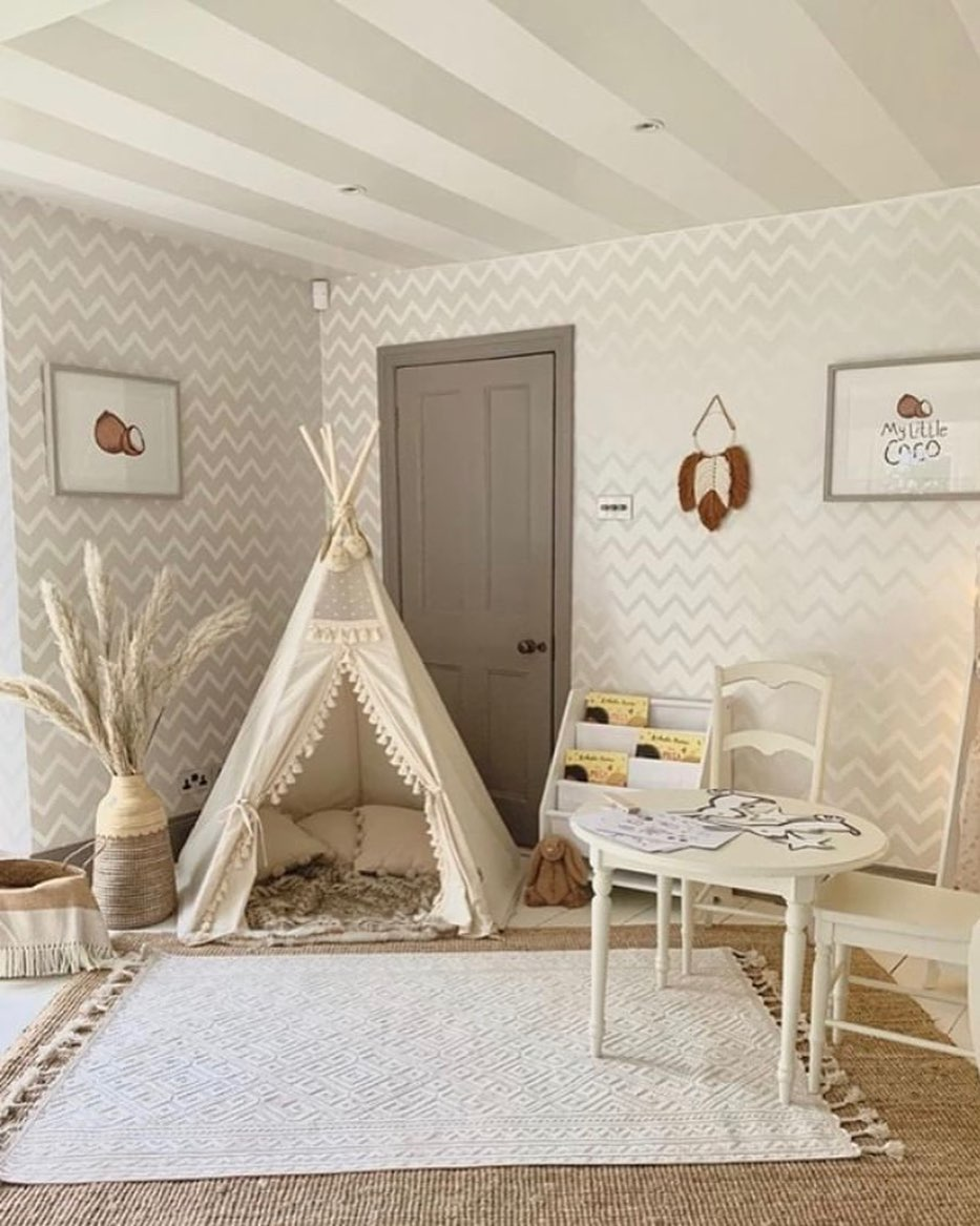 Large and spacious children's room decoration (6)