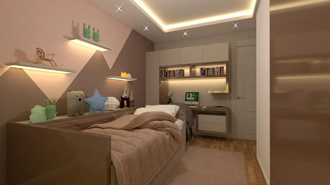 Large and spacious children's room decoration (8)