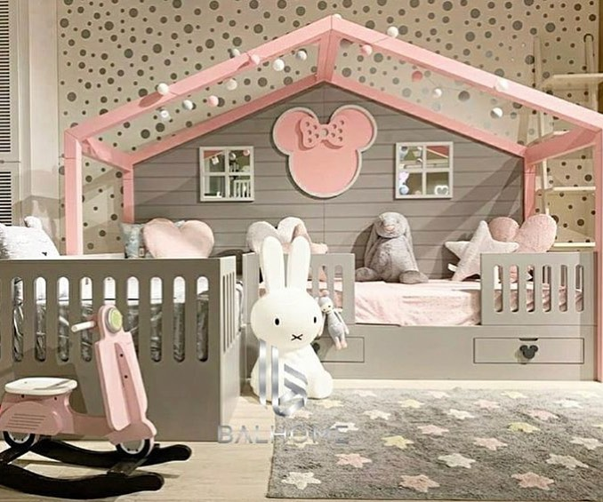 Large and spacious children's room decoration (9)