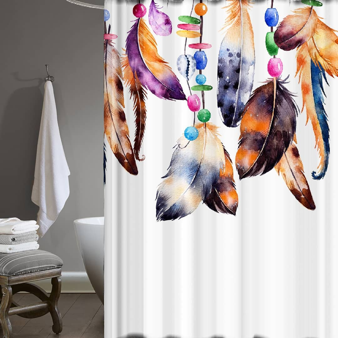 Bath Curtains and Colorful Fabrics (1)