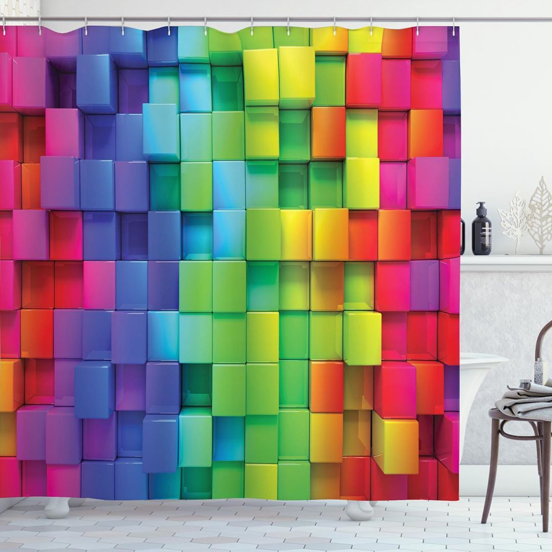 Bath Curtains and Colorful Fabrics (9)