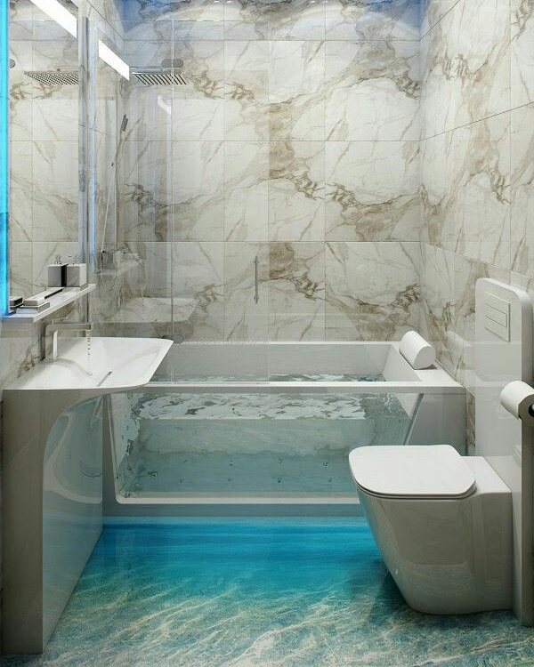Bathrooms Decorated with Sea Views and Tones (10)