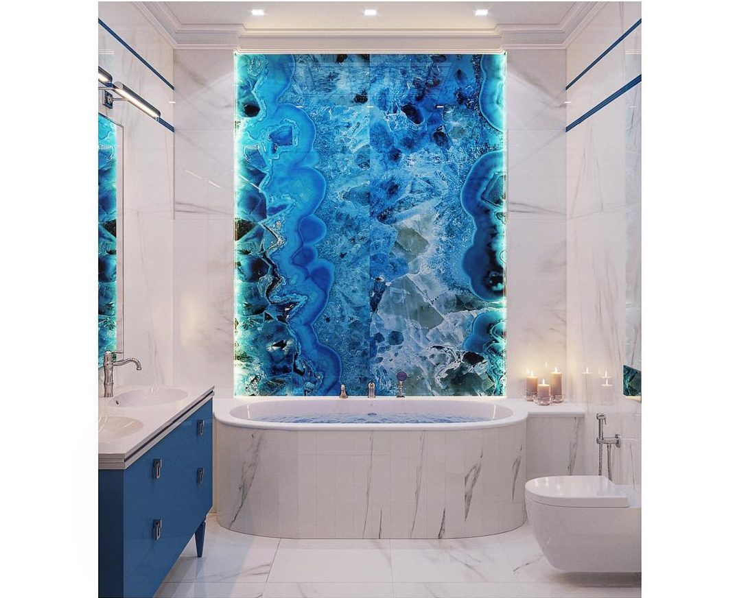 Bathrooms Decorated with Sea Views and Tones (13)