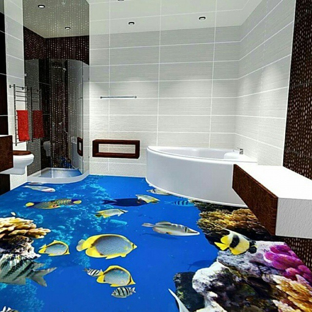 Bathrooms Decorated with Sea Views and Tones (4)