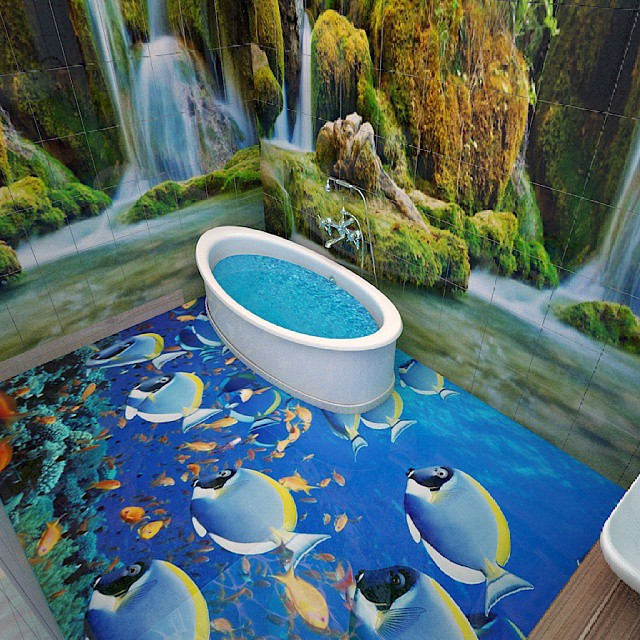 Bathrooms Decorated with Sea Views and Tones (5)