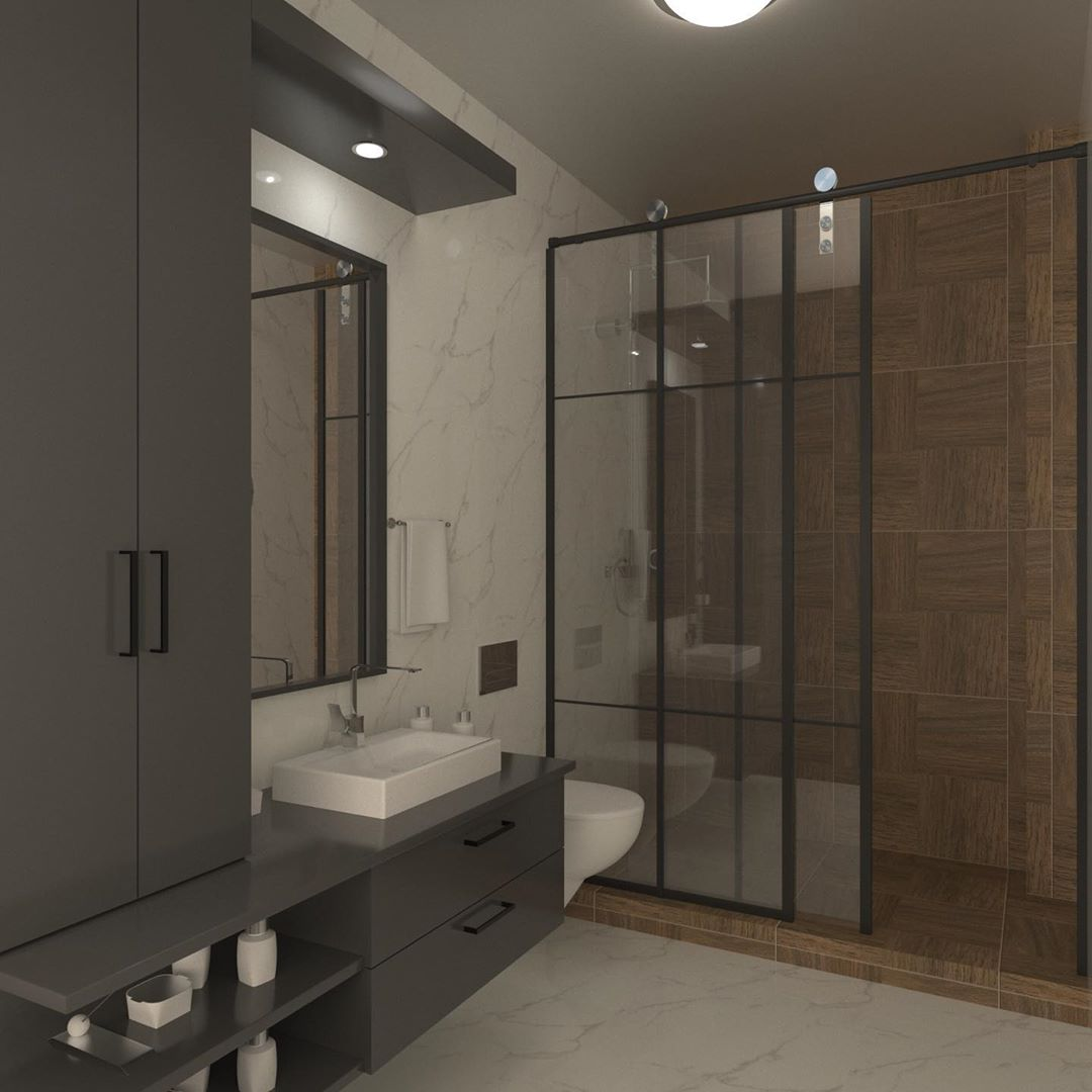 Gray or Black Tones in Your Bathroom (1)