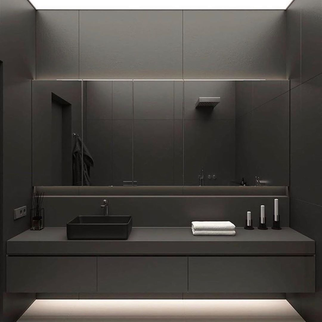 Gray or Black Tones in Your Bathroom (16)
