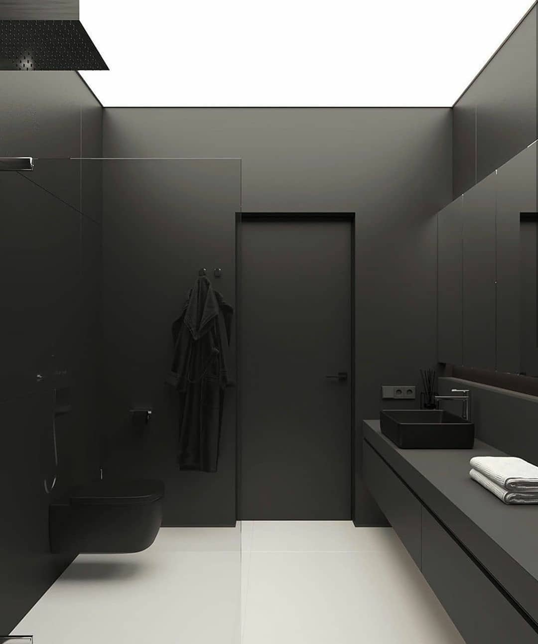 Gray or Black Tones in Your Bathroom (18)