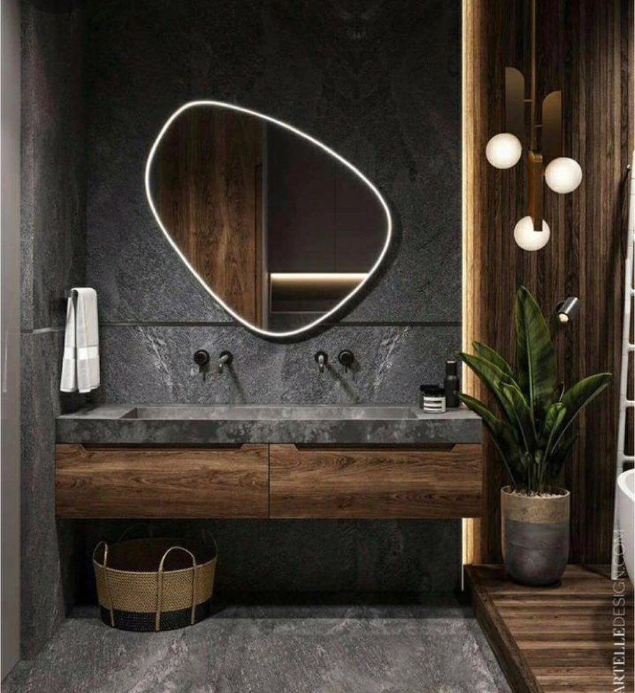 Gray or Black Tones in Your Bathroom (19)