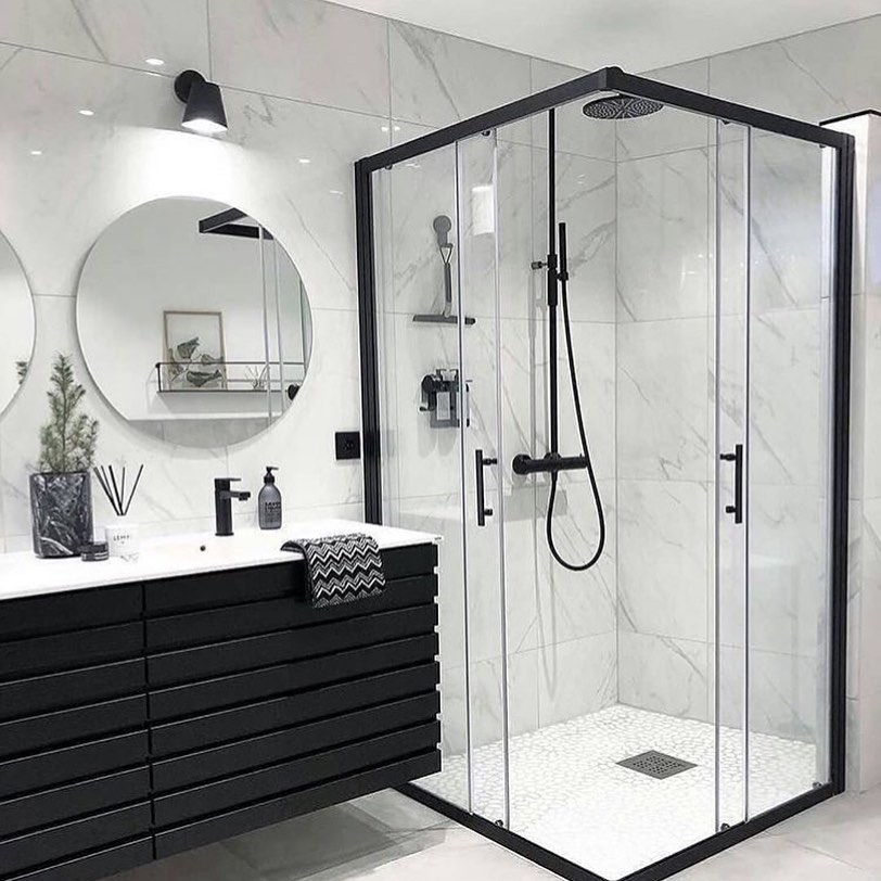 Gray or Black Tones in Your Bathroom (20)