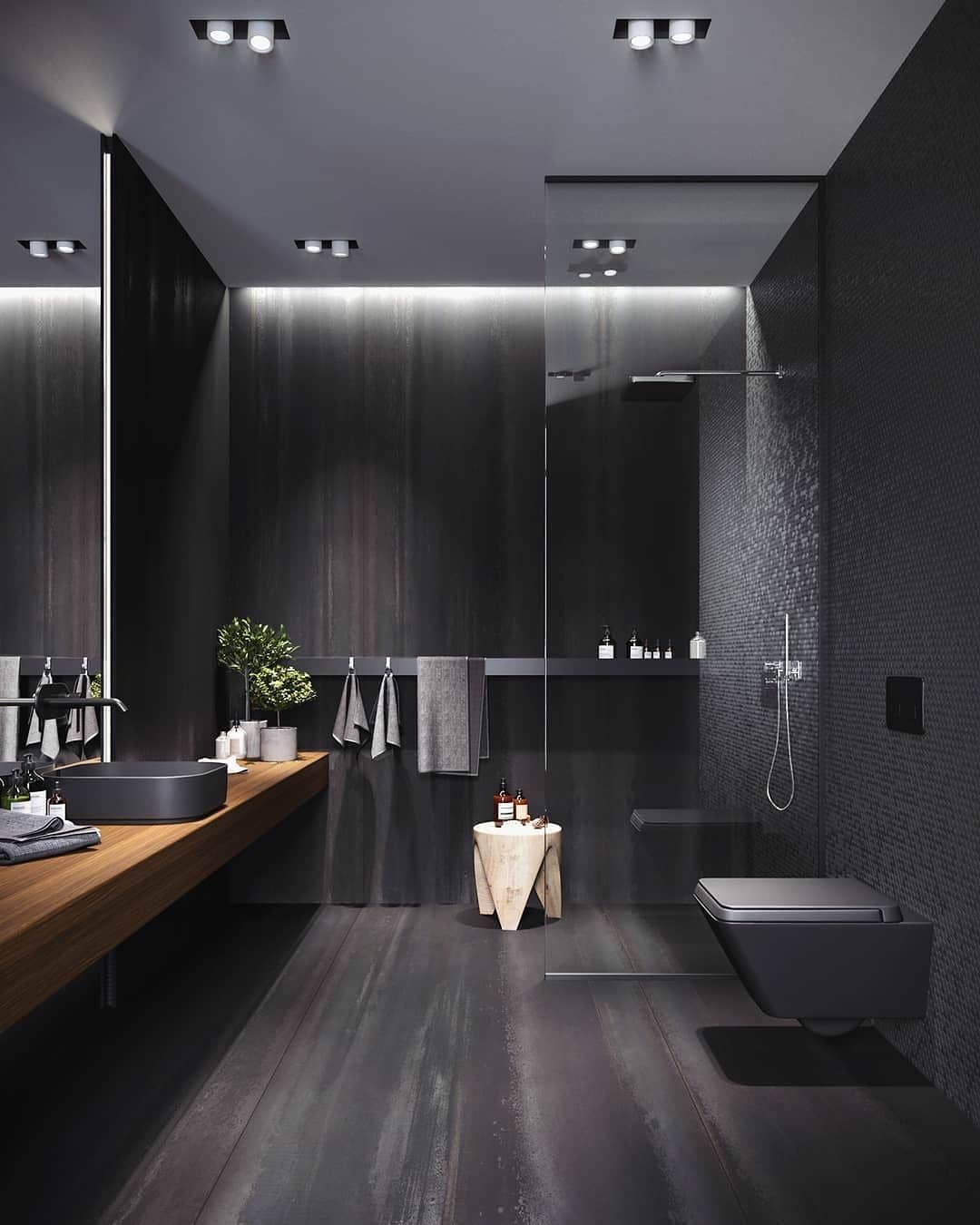 Gray or Black Tones in Your Bathroom (4)