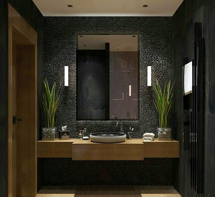 Gray or Black Tones in Your Bathroom (9)