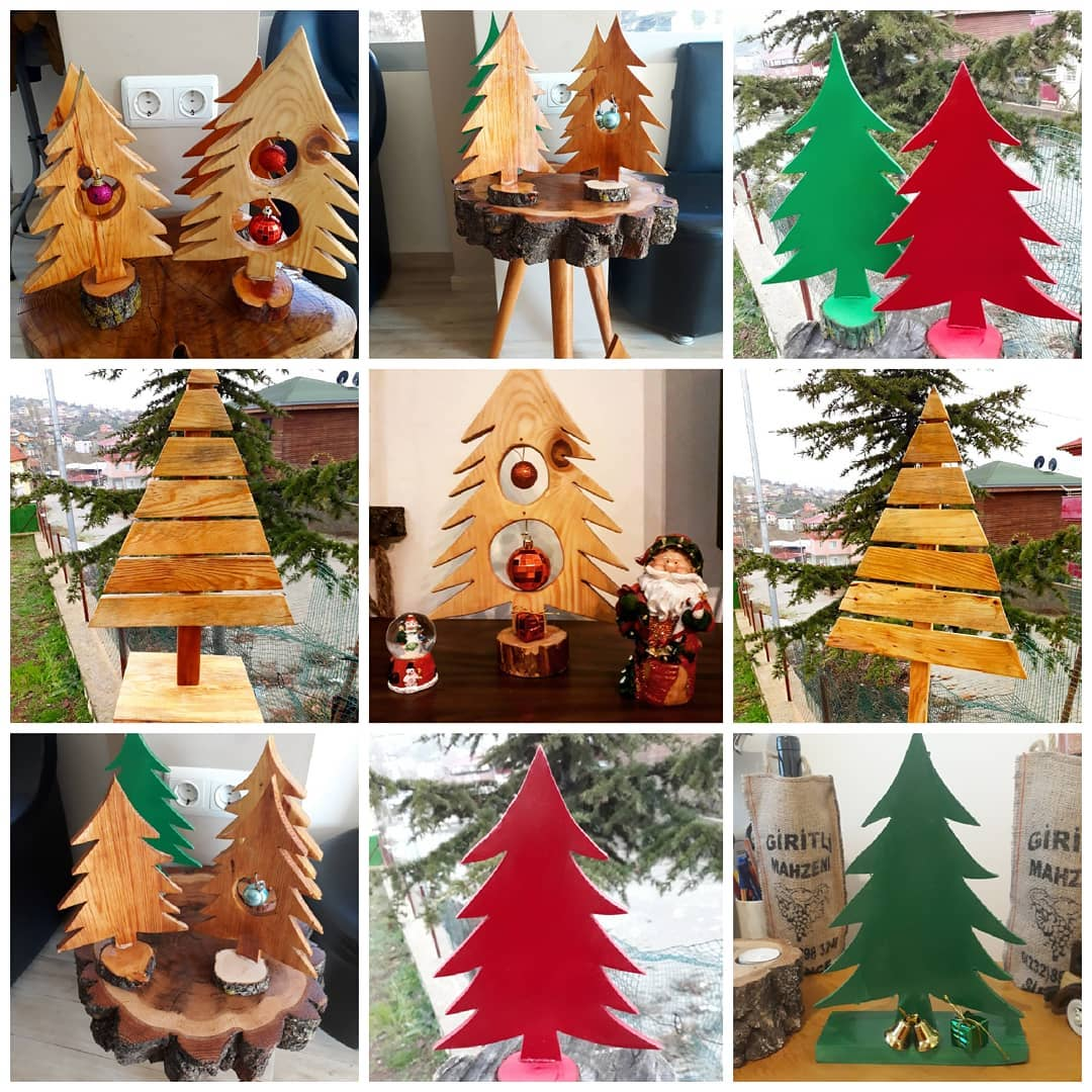 Wooden Christmas Trees (1)